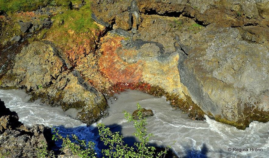 By Barnafoss waterfall