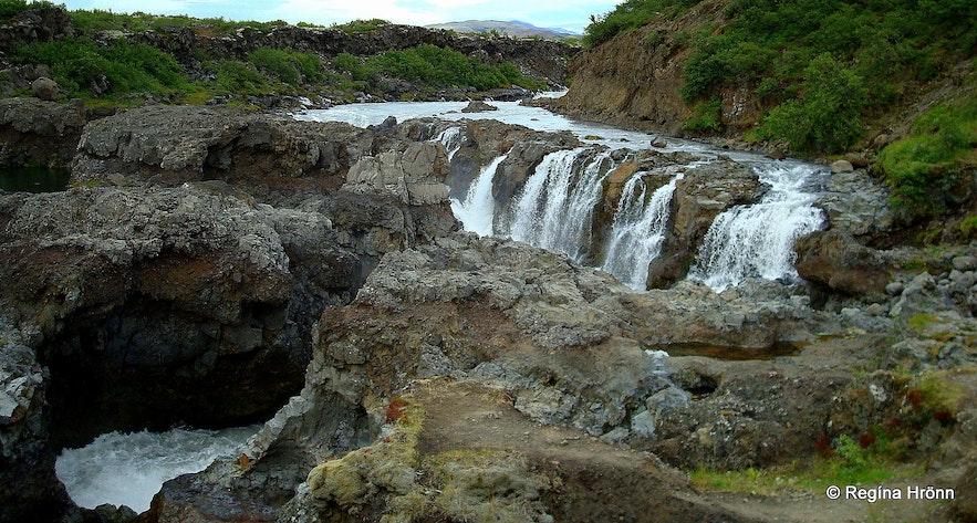 Barnafoss waterfall