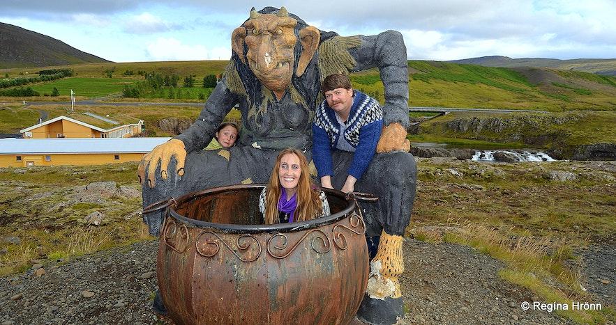 In the cauldron of Grýla at Fossatún