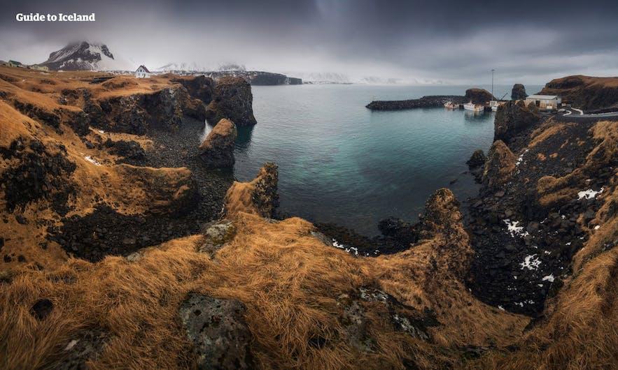 秋季金黄色的斯奈山半岛又是另外一番景色