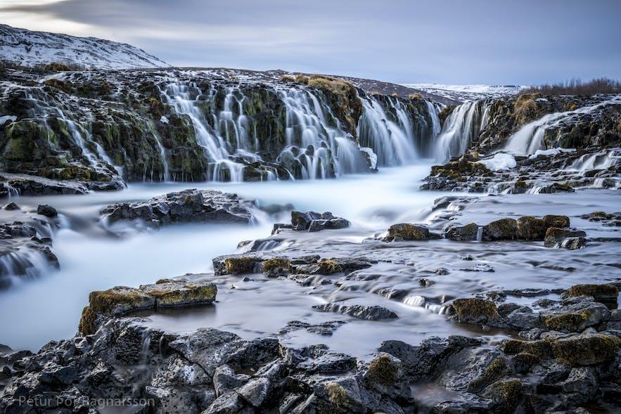 Hraunfossar in western Iceland