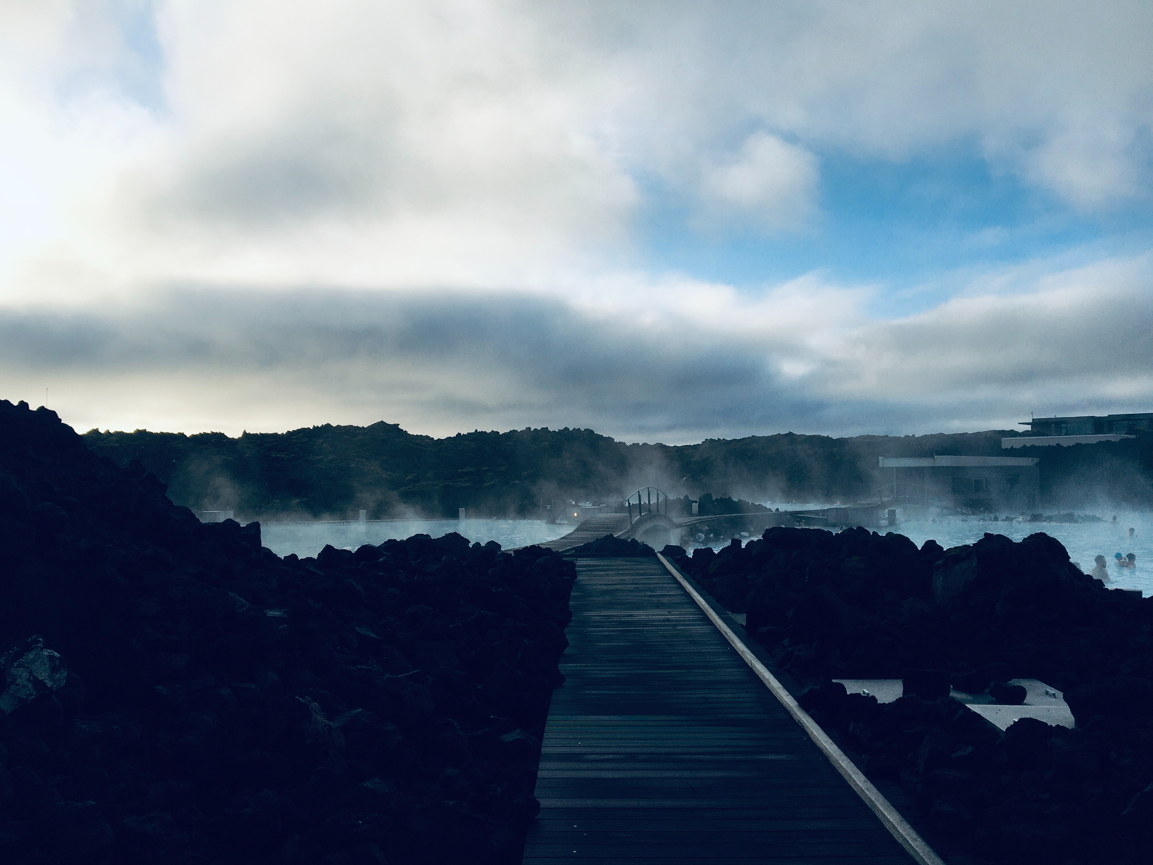 The Blue Lagoon is set among the rocky landscapes of the Reykjanes Peninsula