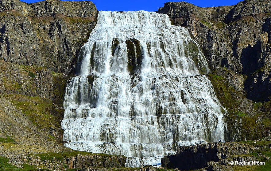 The majestic Dynjandi waterfall in the Westfjords