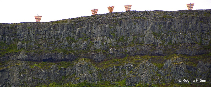 avalanche defenses just above Patreksfjörðurvillage
