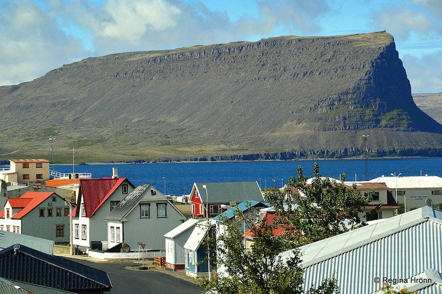 The view of Patreksfjörður from the window