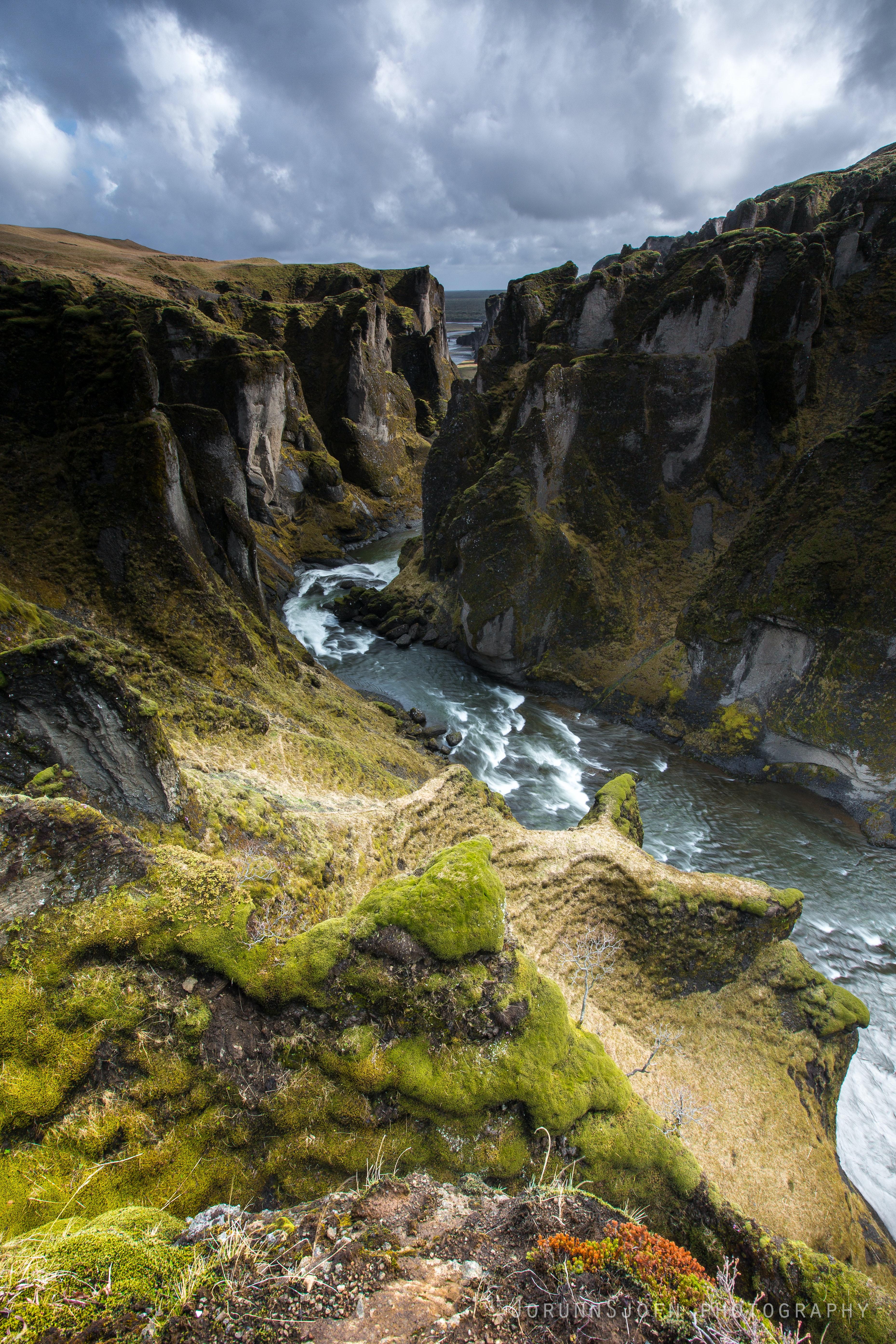 Fjarðarárgljúfur canyon in south Iceland