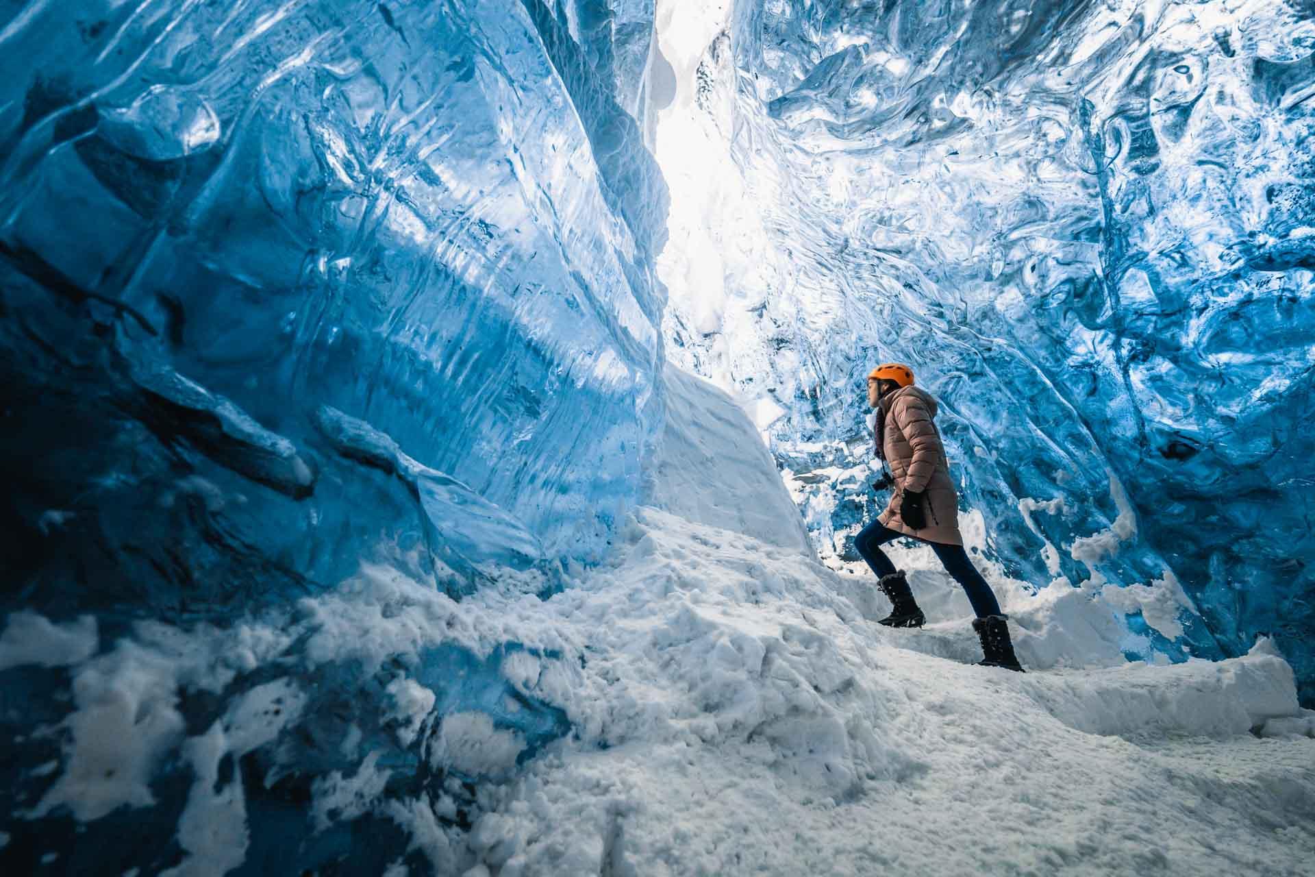 Inside the Blue Diamond Ice Cave
