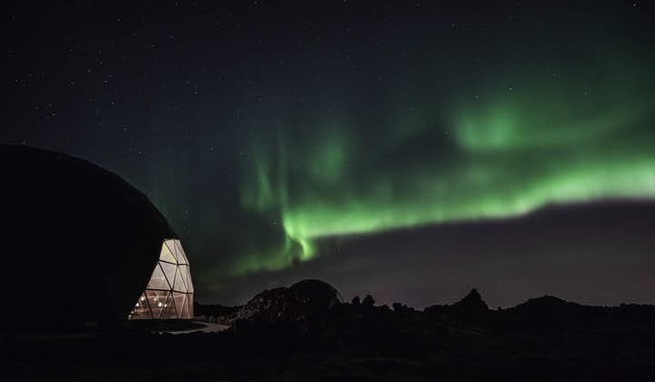 The Aurora Observatory with the Northern Lights in the sky