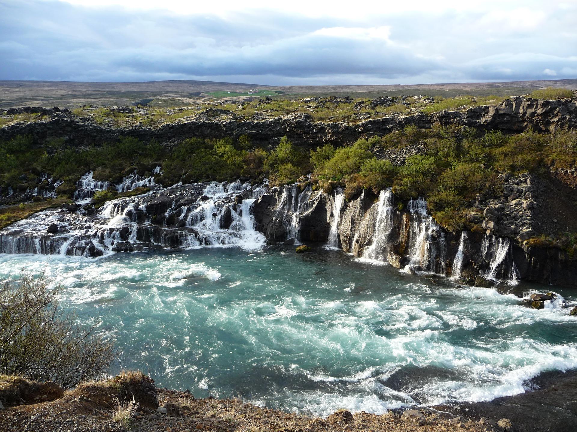 Hraunfoss waterfall in West Iceland