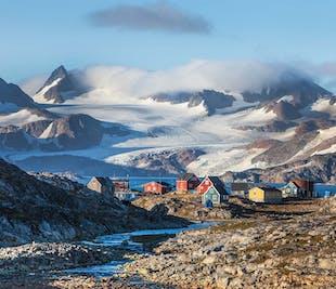 Glacier and Inuit Village