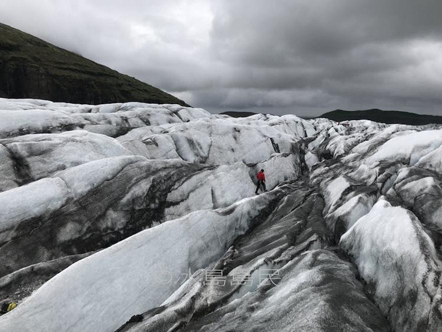 冰島斯卡夫塔山冰川景色