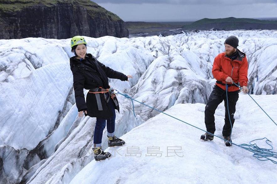 冰川的trust fall