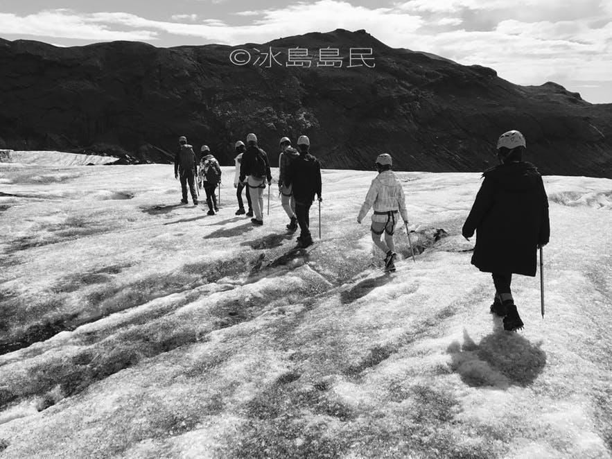 冰島冰川健行實境