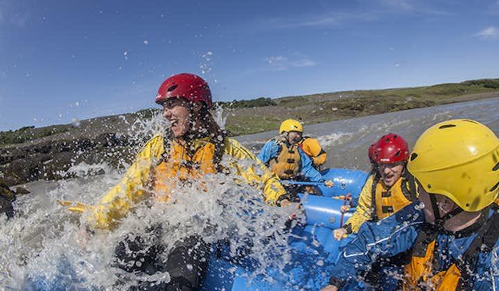Splash through the waters of the Hvita river.