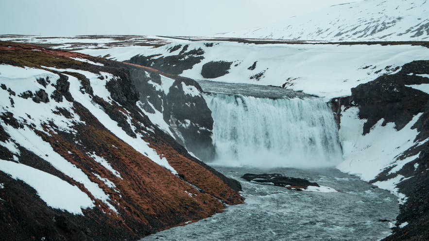 Thorufoss waterfall near the Golden Circle in Iceland