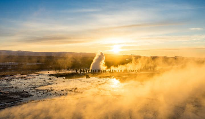 The Geysir Geothermal Area at Golden Hour