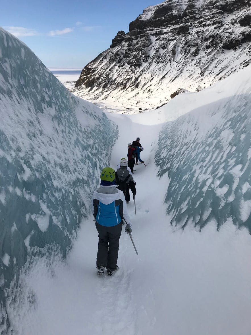 Glacier hike: first-time experience