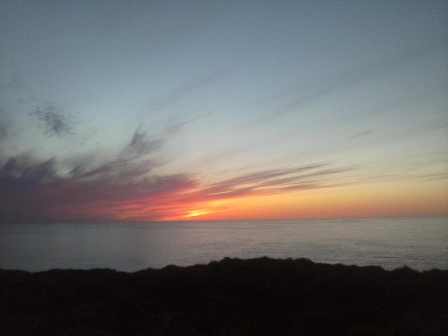 Sunset over Grímsey