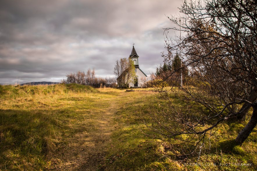 Thingvallakirkja church in Iceland