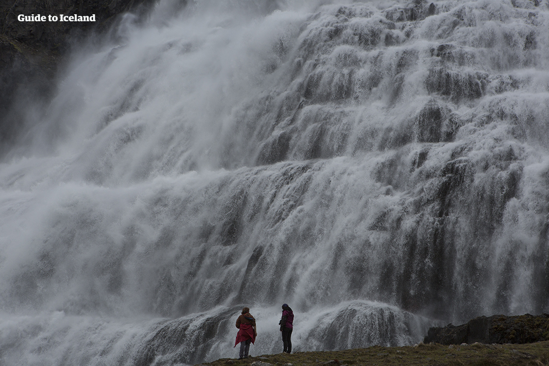 Dynjandi is one of the most popular waterfalls in Iceland, and located in the remote Westfjords
