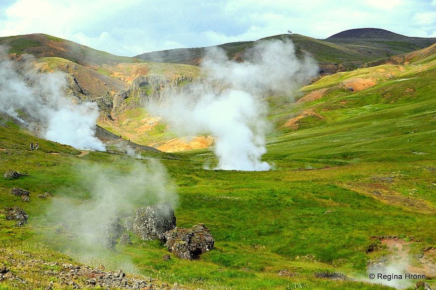 Reykjadalur valley geothermal area