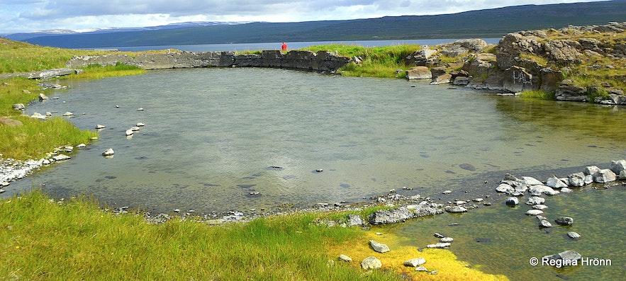 Gamla laugin old pool at Reykjanes in the Westfjords of Iceland