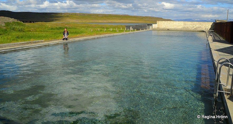 Reykjaneslaug hot swimming pool in Reykjanes in the Westfjords of Iceland