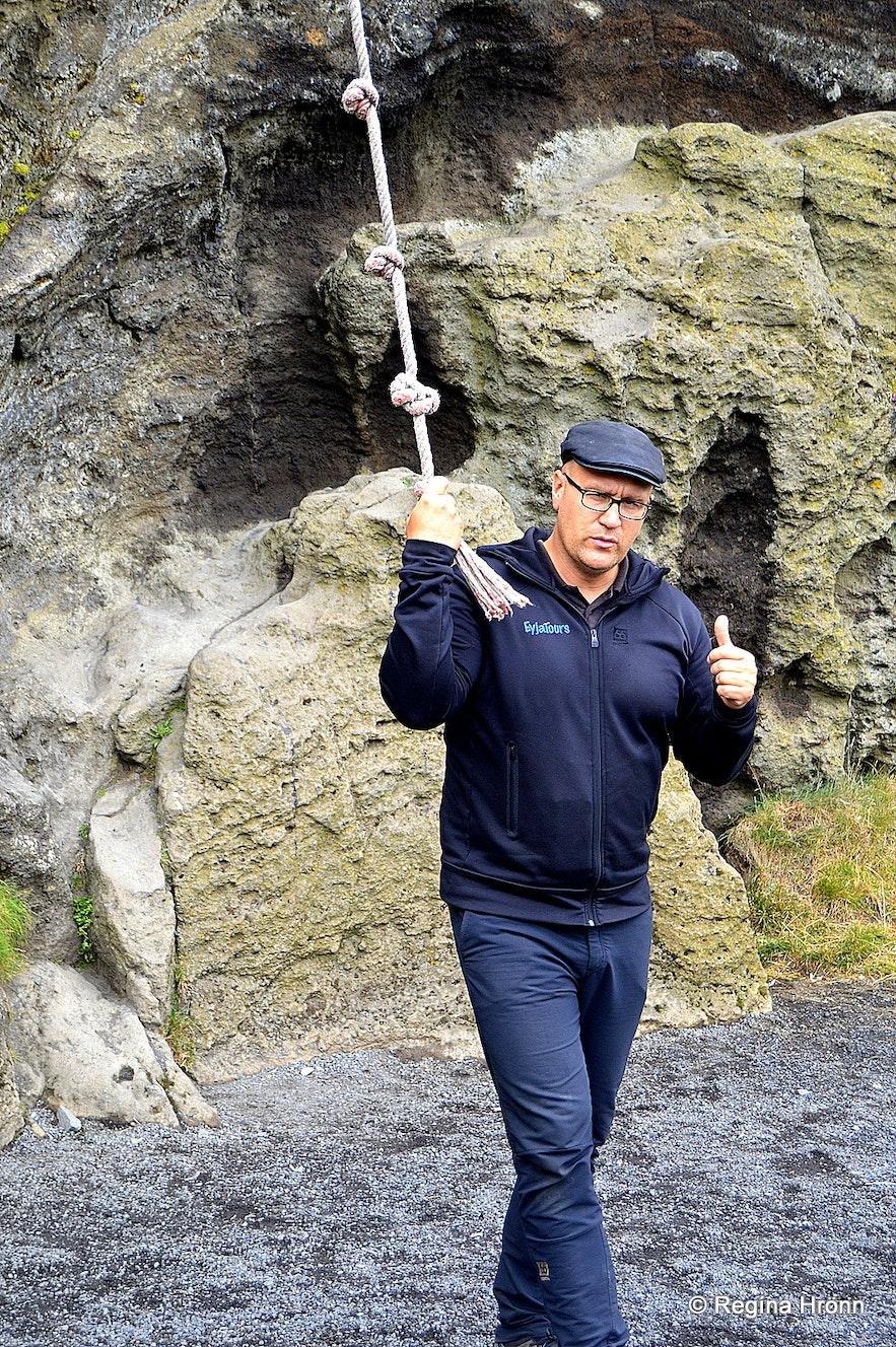 Einar the tour guide by Sprangan Westman islands
