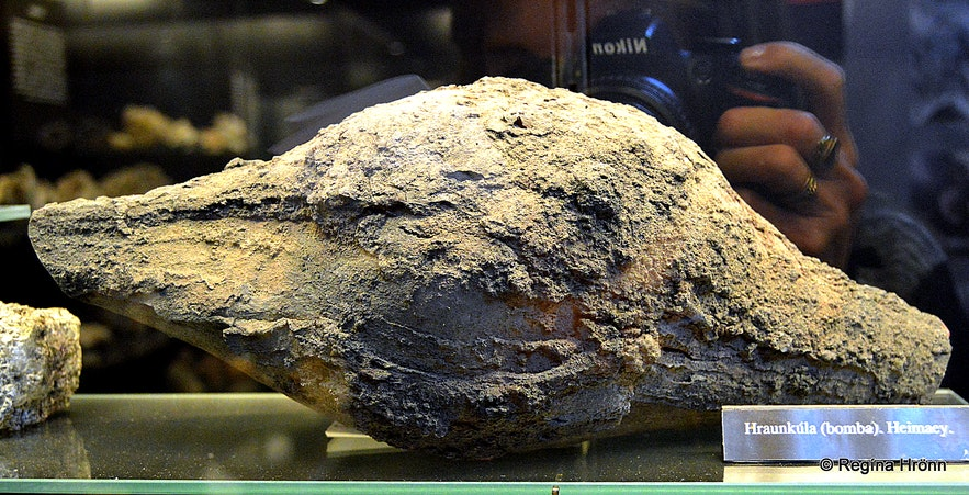 A special type of lava bomb at the museum