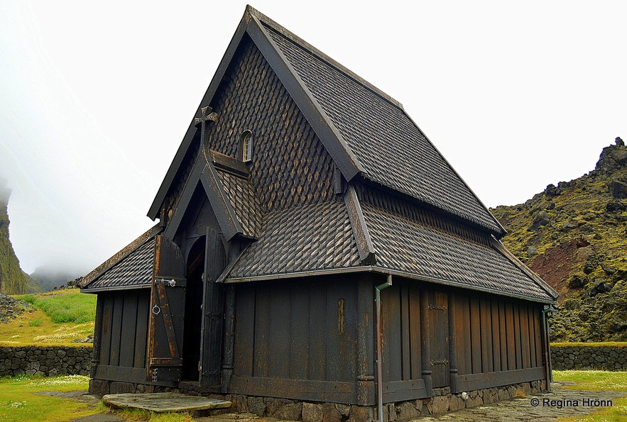 The stave church in the Westman islands