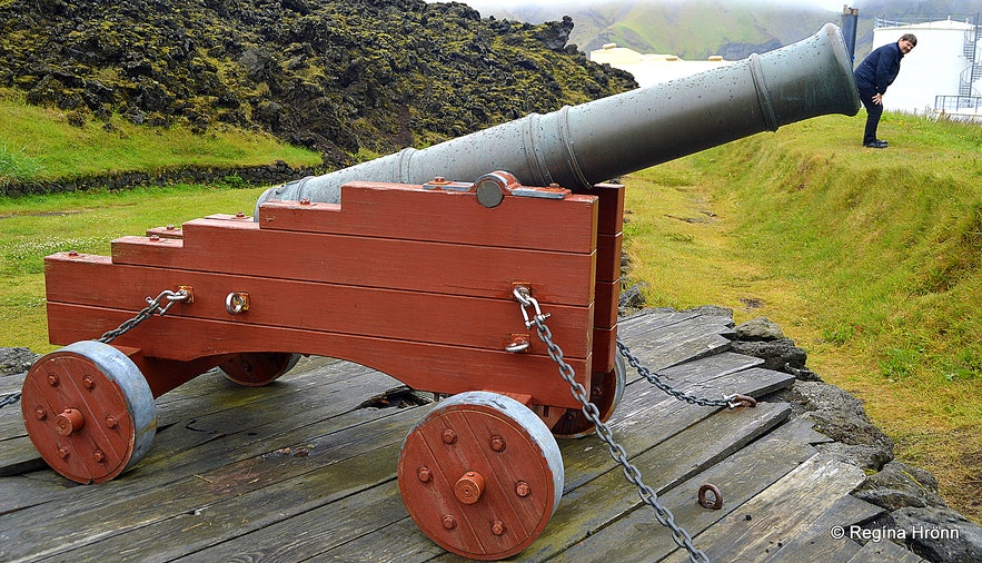 Westman Islands South-Iceland cannon on the Fortress