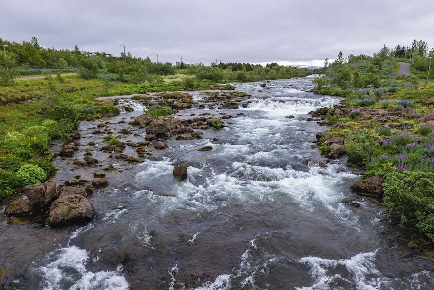 Ellidaa river in Reykjavik