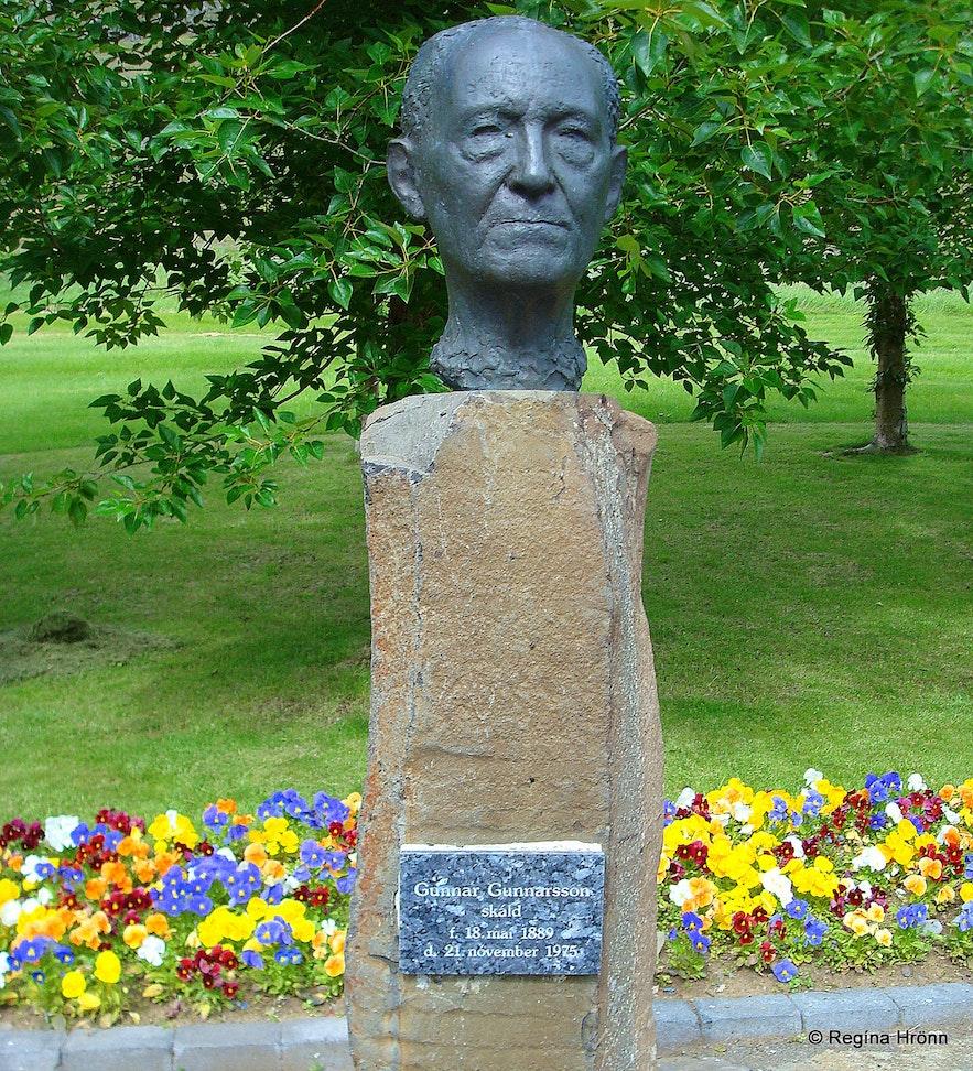 The memorial for Gunnar Gunnarsson at Skriðuklaustur