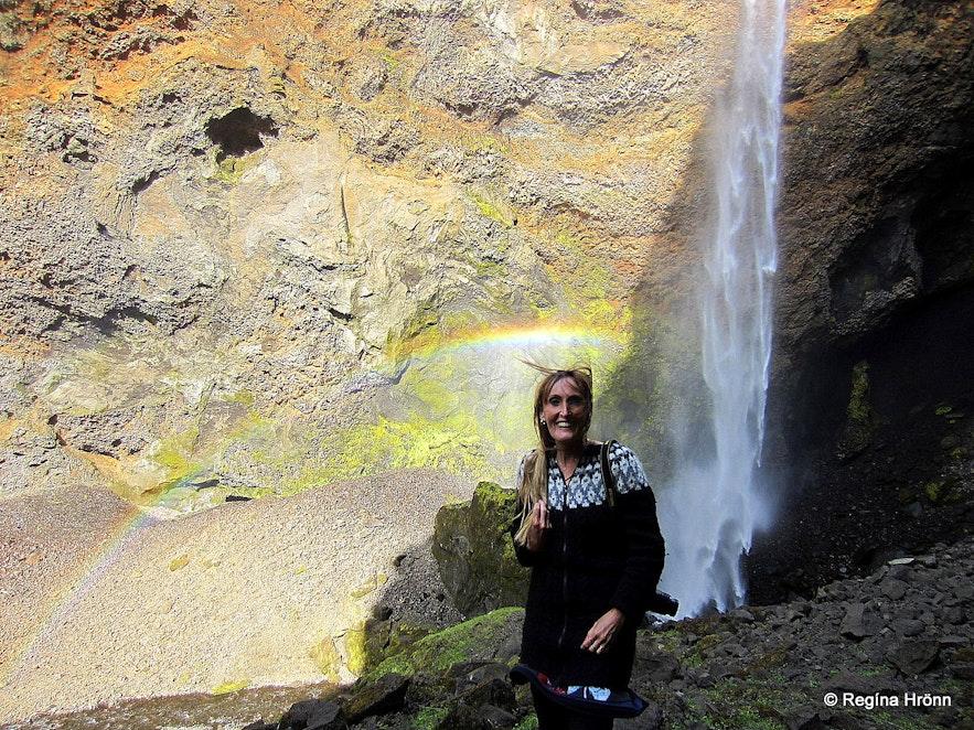 Regína by Remundargilsfoss in Remundargil canyon South-Iceland