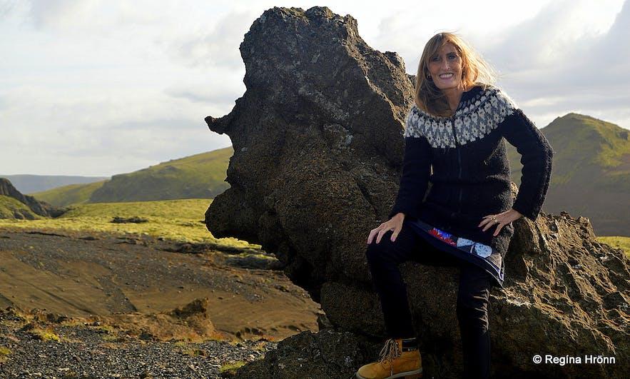 Regína by Tótanef rock South-Iceland