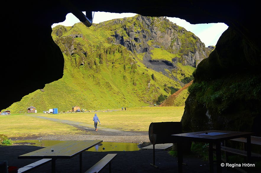 The cave in Þakgil canyon South-Iceland