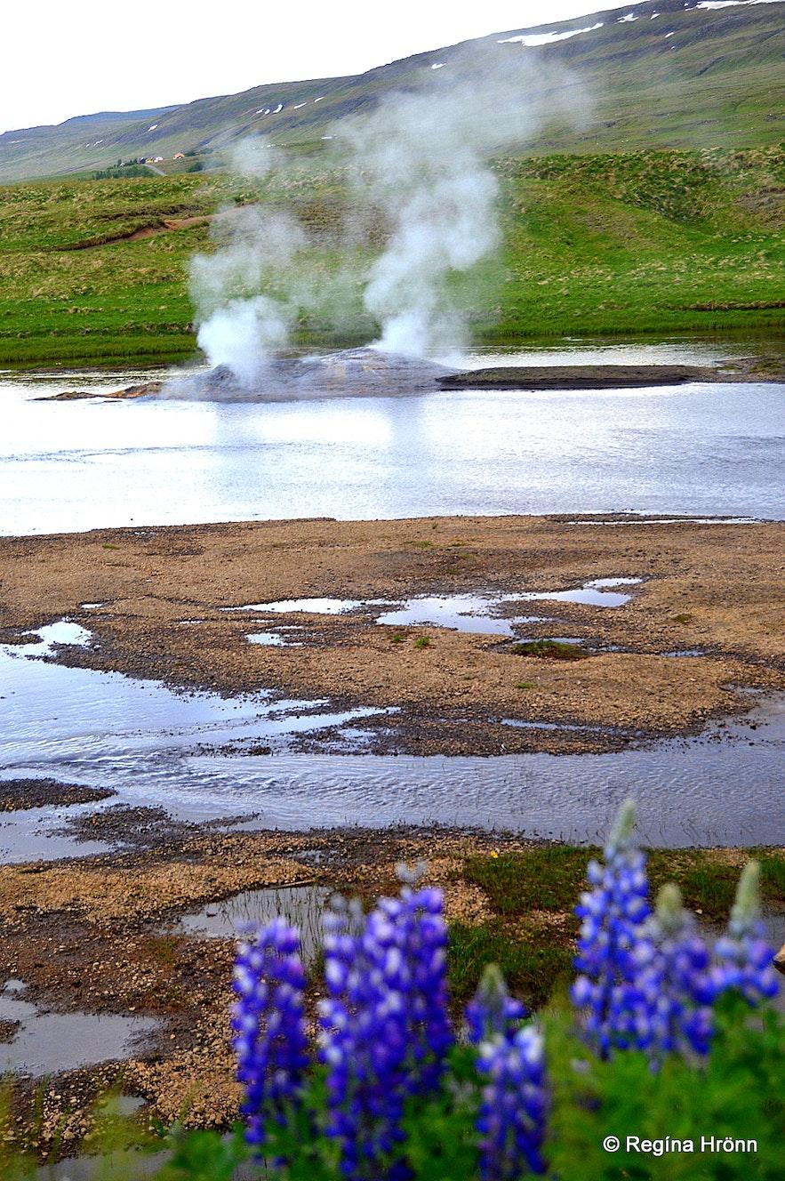 Árhver - Vellilr geothermal hot spring in a river