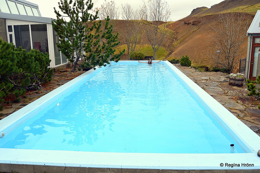 Frost and Fire Hotel on the Banks of Varmá River in South-Iceland