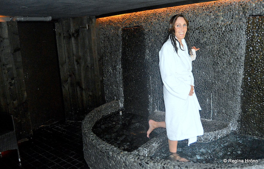 Regína at  Frost and Fire Hotel on the Banks of Varmá River in South-Iceland