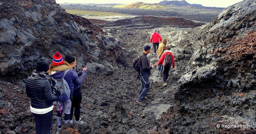 Lava formations at Gjástykki NE-Iceland
