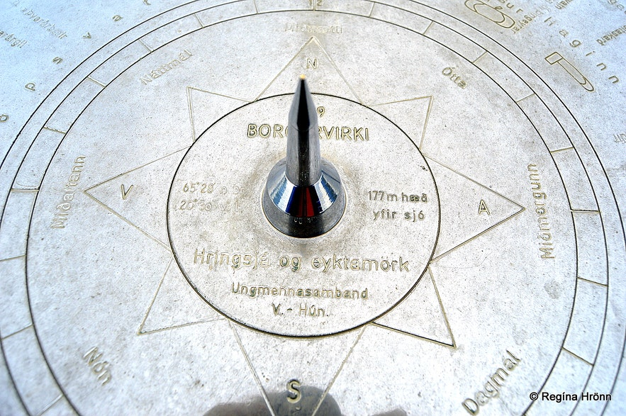 Borgarvirki North-West Iceland view-dial