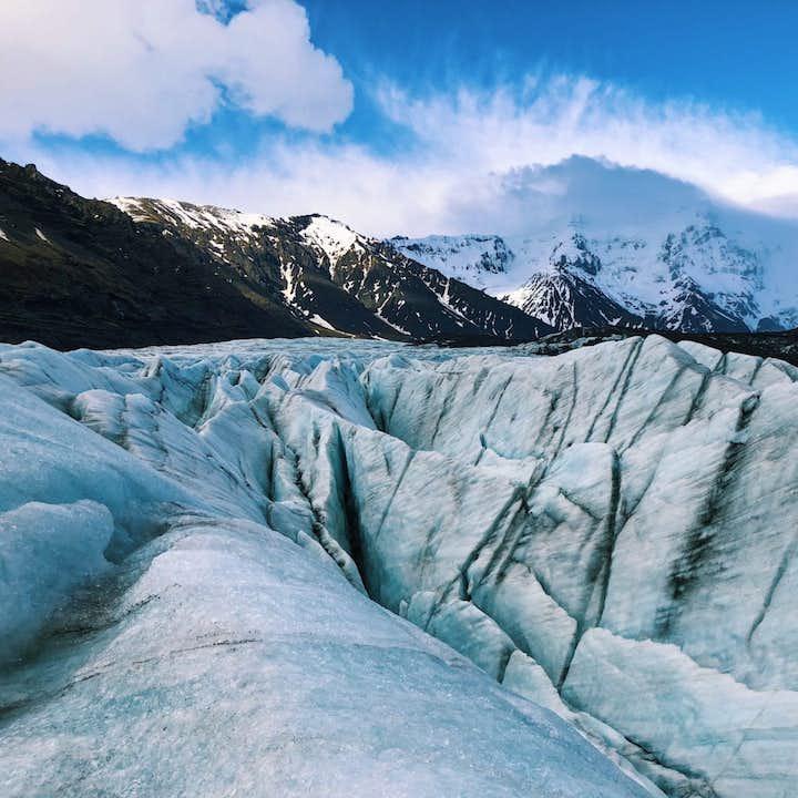 現地集合|スカフタフェットルでの氷河ハイキング|健脚者向け