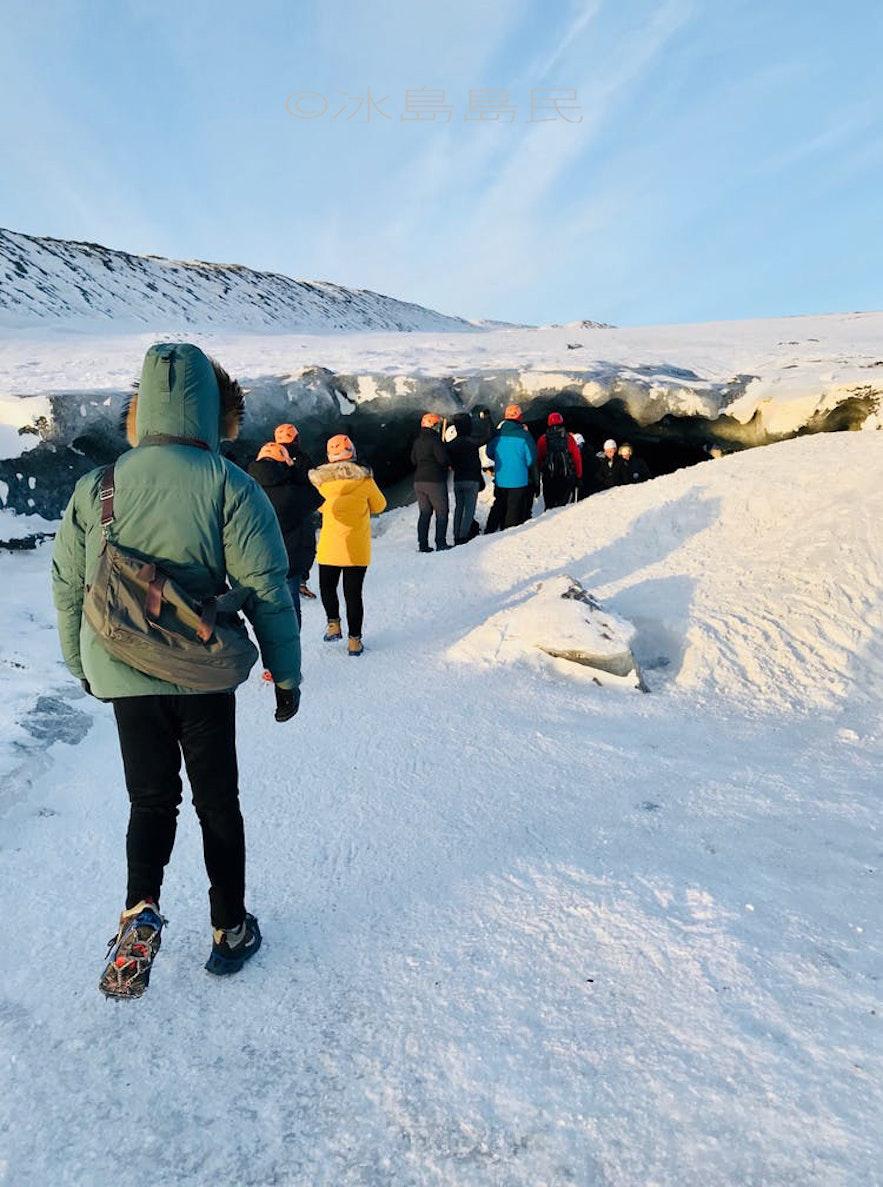 冰島藍冰洞入口