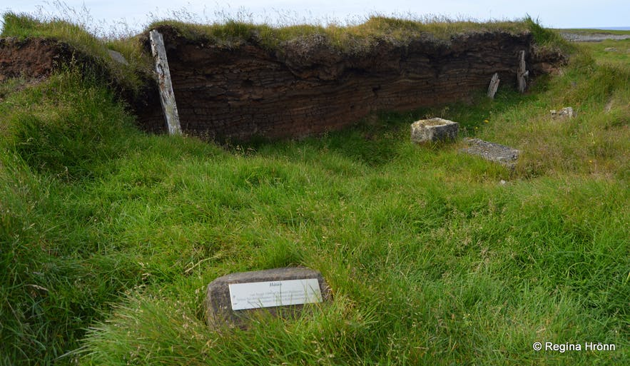 Ruins at Kálfshamarsvík cove at Skagi North-Iceland