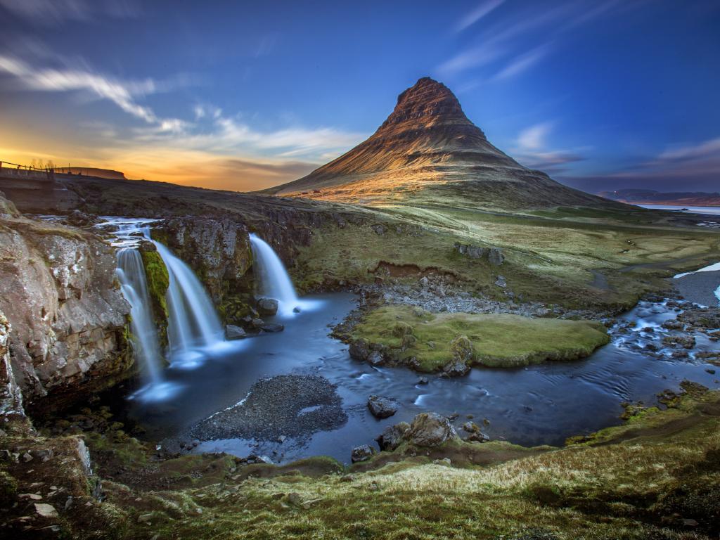 Kirkjufell and Kirkjufellsfoss in West Iceland