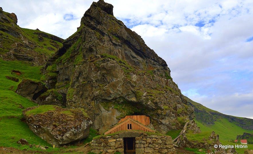 Rútshellir cave in South-Iceland