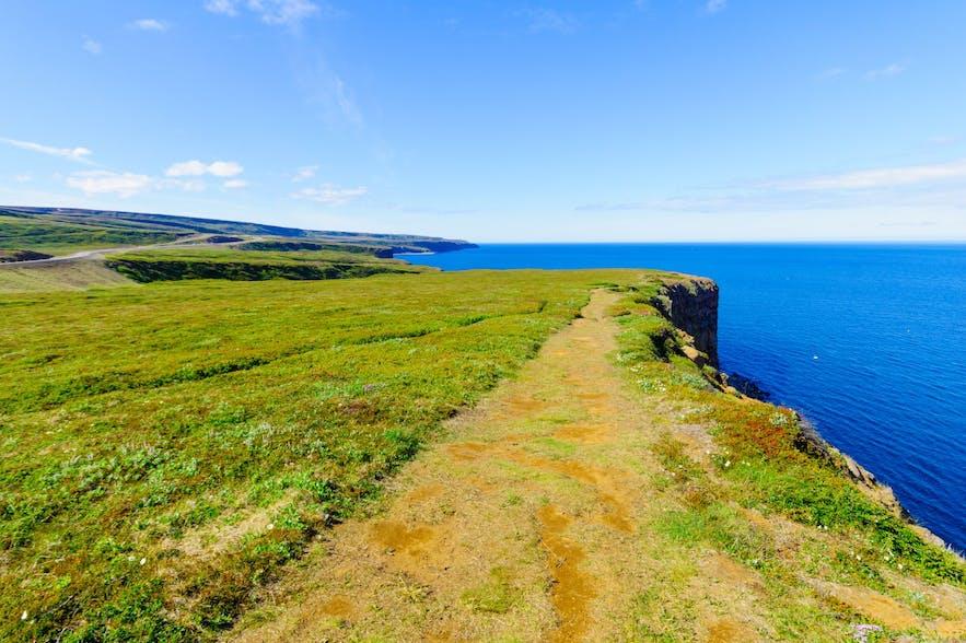 Tjornes peninsula in North Iceland