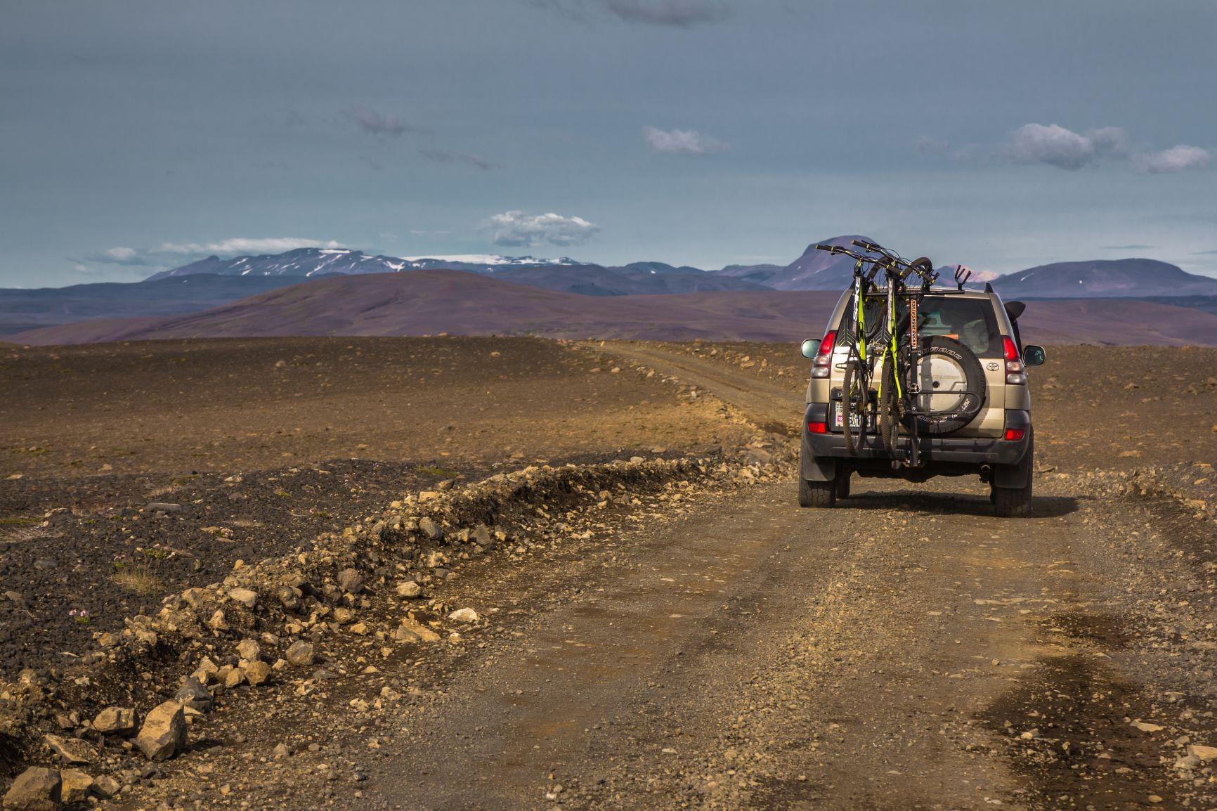 Sprengisandur highland road in Iceland