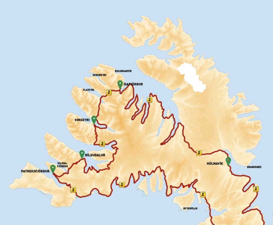 冰岛西峡湾的二号环岛公路