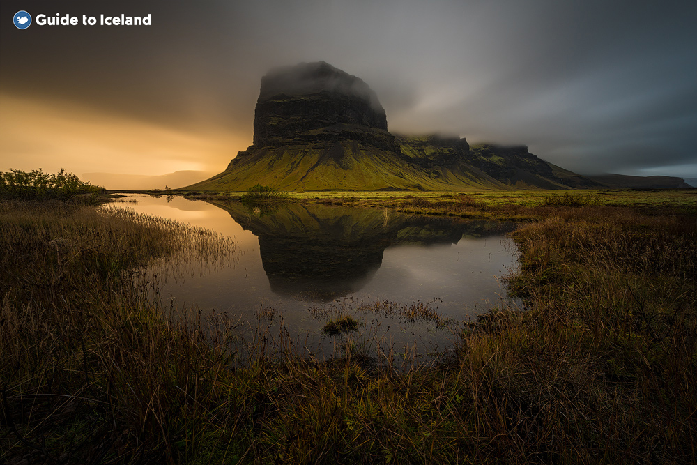 Lomagnupur mountain on the South Coast of Iceland